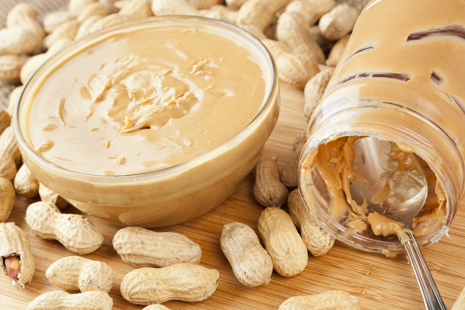 Creamy Brown Peanut Butter on a background; Shutterstock ID 109760069; PO: The Huffington Post; Job: The Huffington Post; Client: The Huffington Post; Other: The Huffington Post