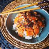 Rozbalené sushi s marinovaným lososem